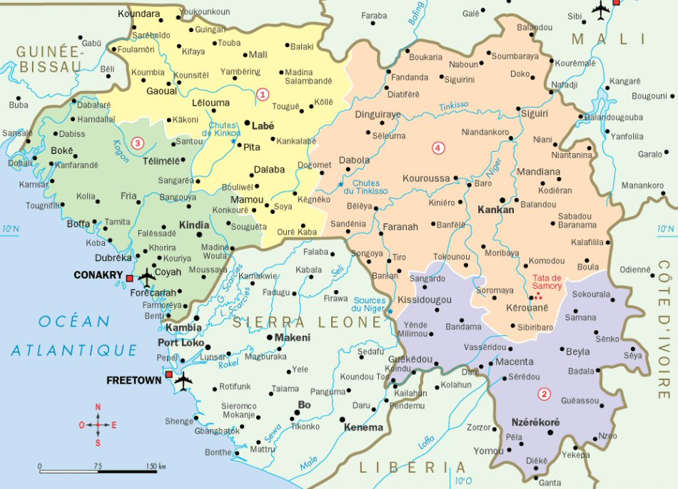 Guinée carte géographie