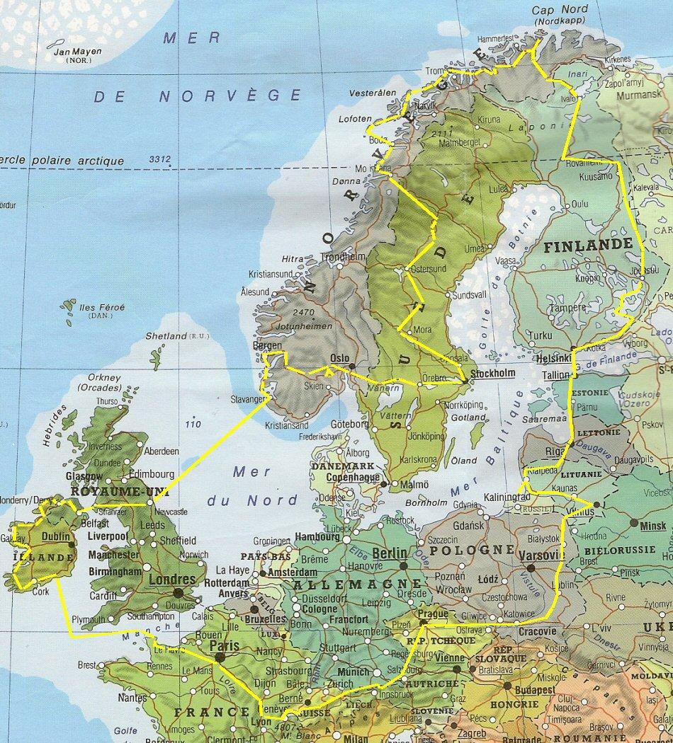 Carte Norvege Cap Nord.Notre Voyage Au Cap Nord En 2008